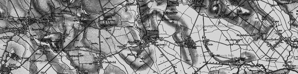 Old map of Bampton in 1895