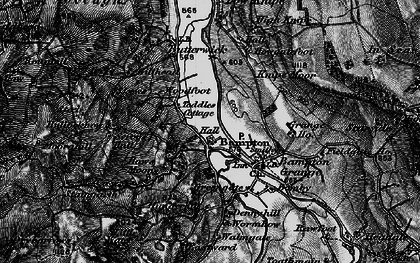 Old map of Bampton in 1897