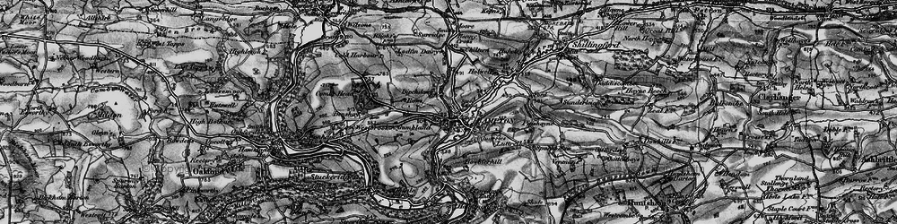 Old map of Bampton in 1898