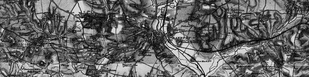 Old map of Banbury in 1896