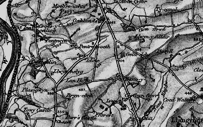 Old map of Bancycapel in 1898