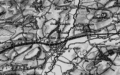 Old map of Bancyfelin in 1898