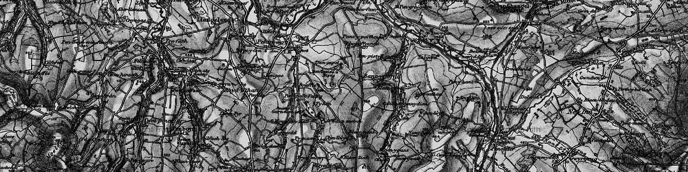Old map of Afon Tyweli in 1898