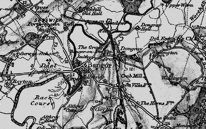 Old map of Bangor on Dee in 1897