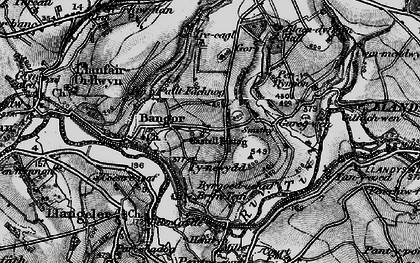Old map of Bangor Teifi in 1898