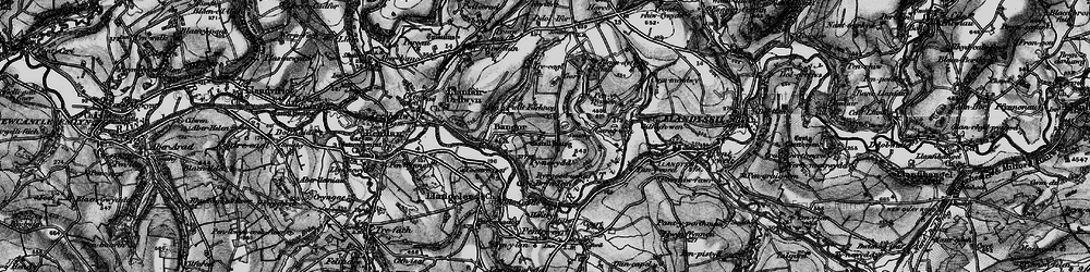 Old map of Aberhoffnant in 1898