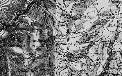 Old map of Bangors in 1896
