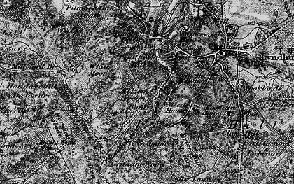 Old map of Allum Green in 1895