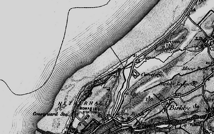 Old map of Bank End in 1897