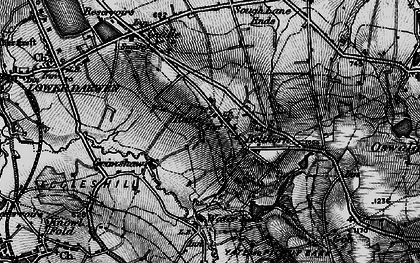 Old map of Bank Fold in 1896