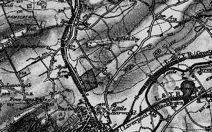 Old map of Bank Hey in 1896