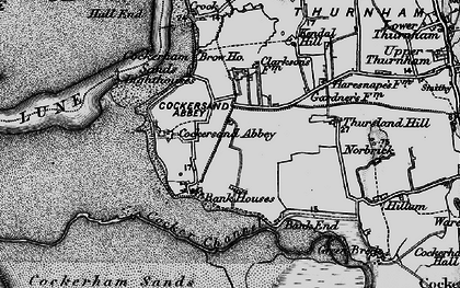 Old map of Bank Houses in 1896
