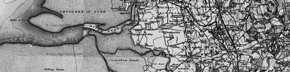 Old map of Thursland Hill in 1896