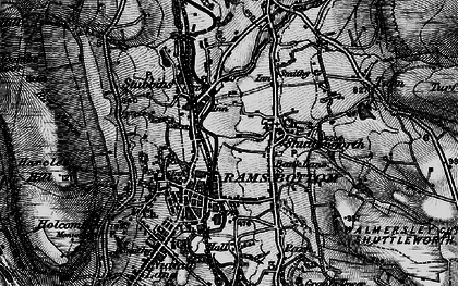 Old map of Bank Lane in 1896