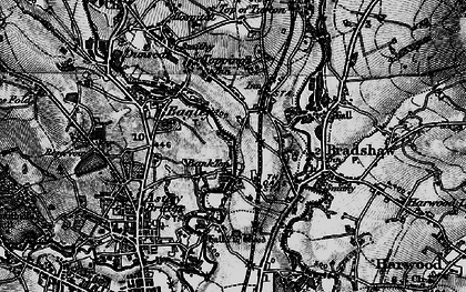 Old map of Bank Top in 1896