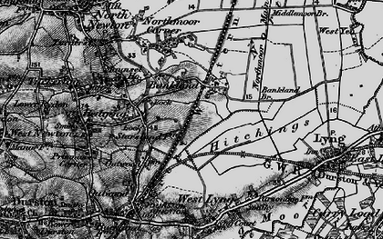 Old map of Bankland in 1898