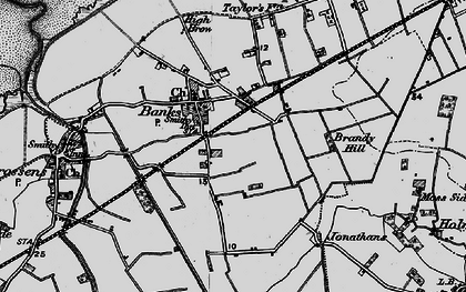 Old map of Banks in 1896