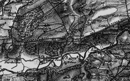 Old map of Allensteads in 1897