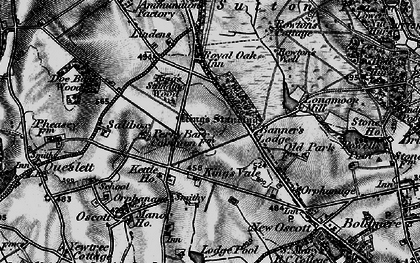 Old map of Westwood Coppice in 1899