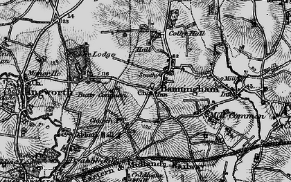 Old map of Banningham in 1898
