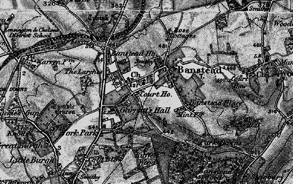 Old map of Banstead in 1896