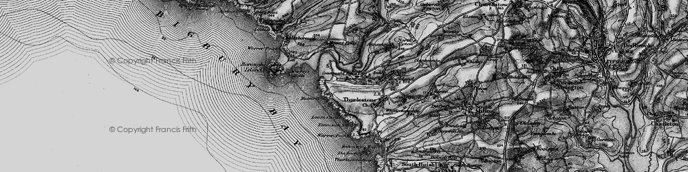 Old map of Bantham in 1897