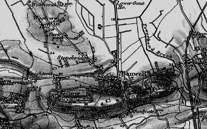 Old map of Banwell in 1898