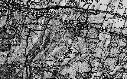Old map of Bapchild in 1895