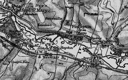Old map of Bapton in 1898