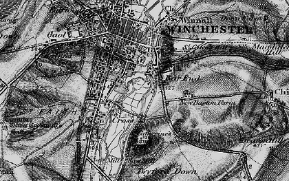 Old map of Bar End in 1895