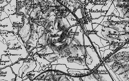 Old map of Aston Cliff in 1897