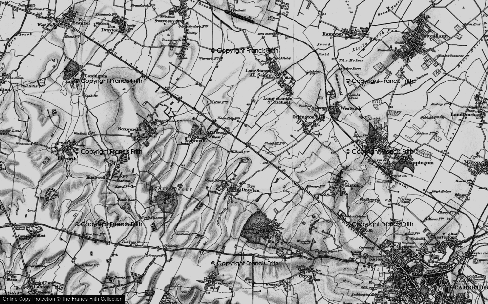 Old Map of Bar Hill, 1898 in 1898