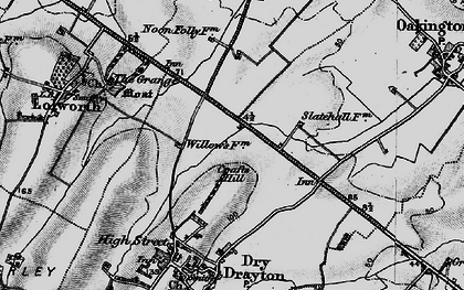 Old map of Bar Hill in 1898