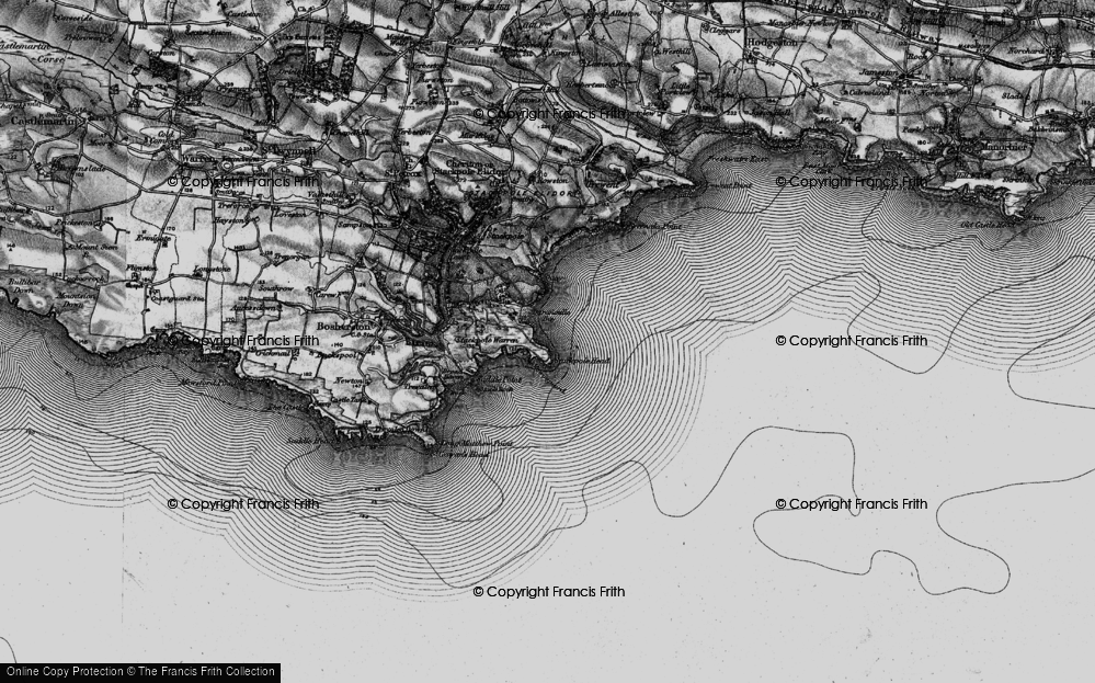 Old Map of Barafundle Bay, 1898 in 1898