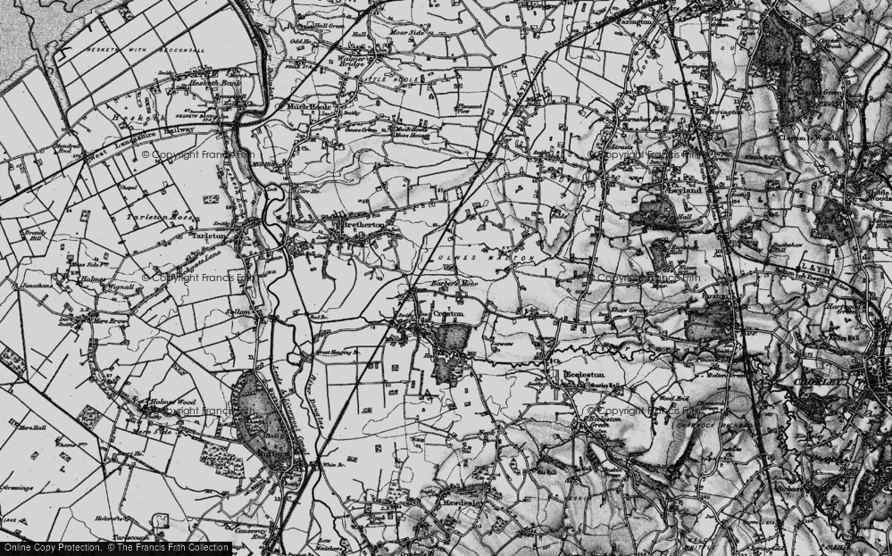 Old Map of Barber's Moor, 1896 in 1896