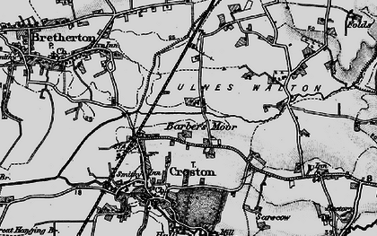 Old map of Barber's Moor in 1896