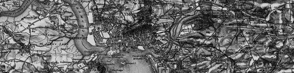 Old map of Barbican in 1896