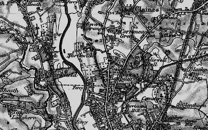Old map of Barbourne in 1898