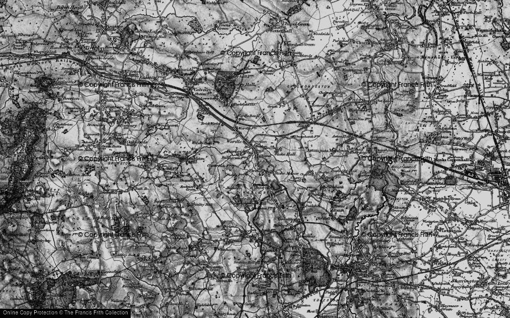 Old Map of Barbridge, 1897 in 1897