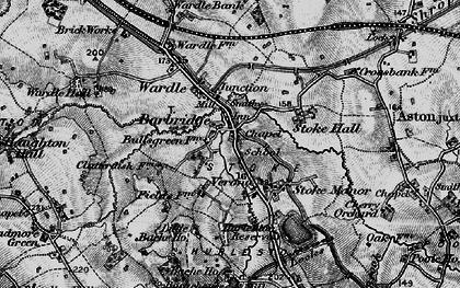 Old map of Barbridge in 1897