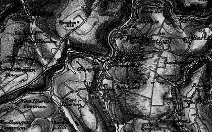 Old map of Barbrook in 1898