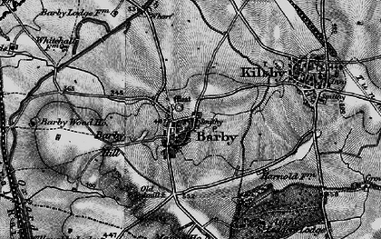 Old map of Barby Hill in 1898