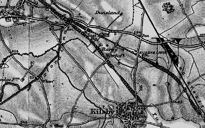 Old map of Barby Nortoft in 1898