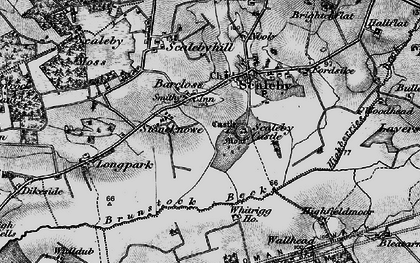 Old map of Barclose in 1897