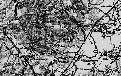 Old map of Averys in 1895