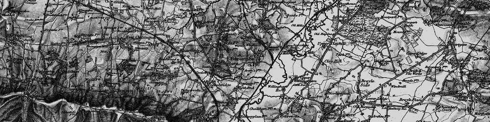 Old map of Barcombe in 1895