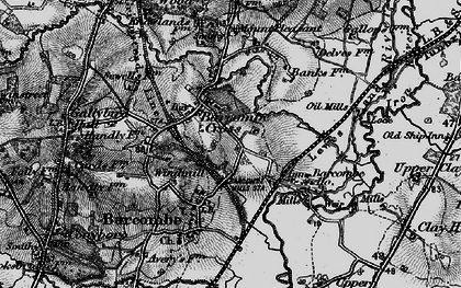 Old map of Barcombe Cross in 1895
