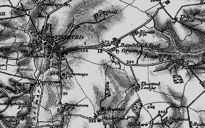 Old map of Bardfield End Green in 1895