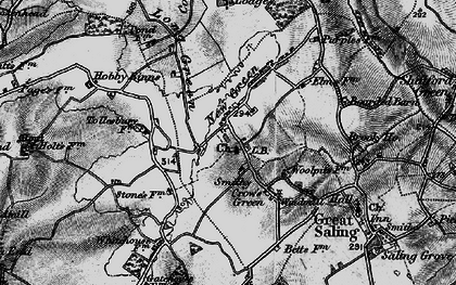 Old map of Bardfield Saling in 1895