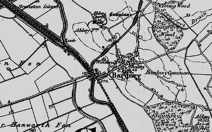 Old map of Bardney in 1899